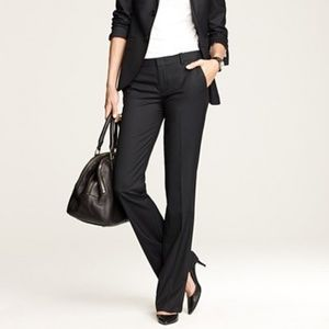 J.CREW super 120s italian wool black city trouser
